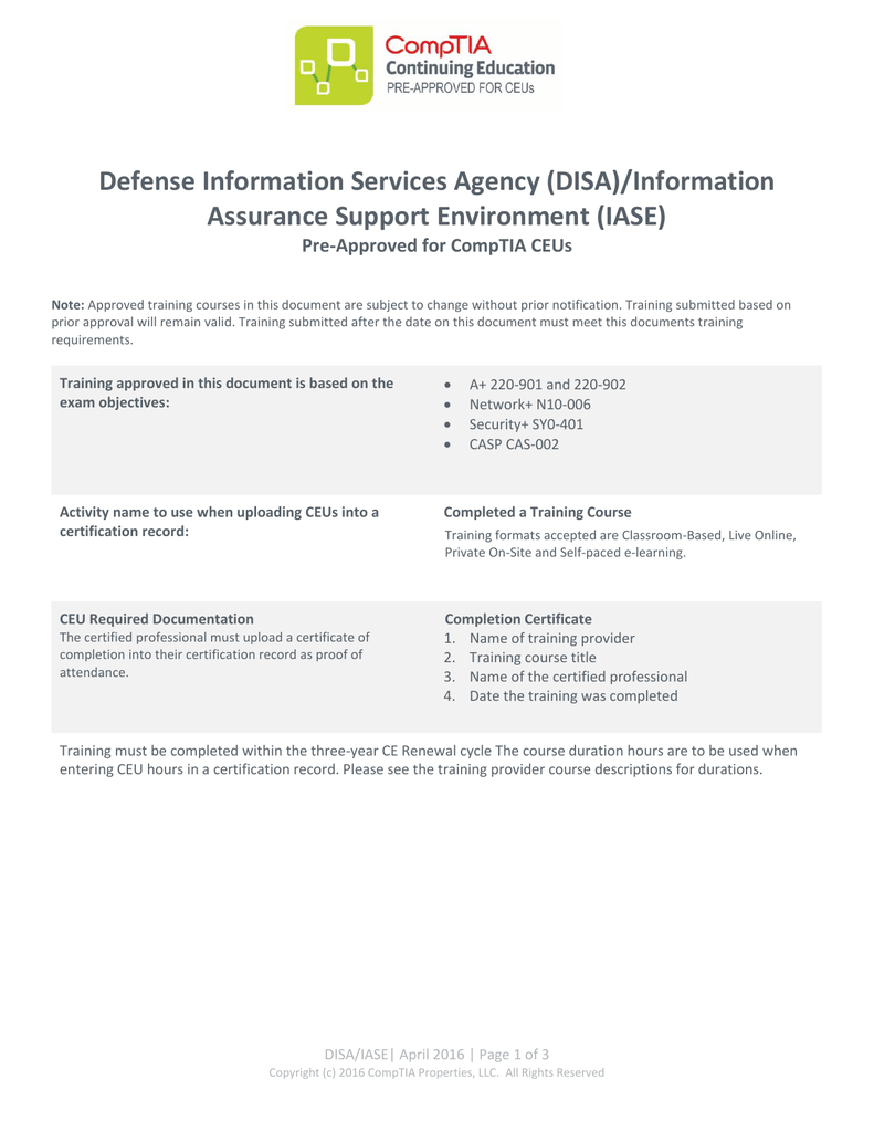 Defense Information Services Agency Disa