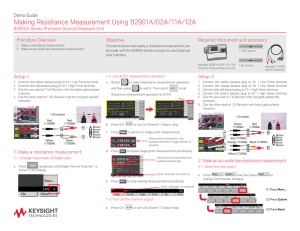 Making Resistance Measurement Using B2901A/02A/11A