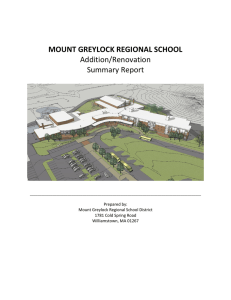 MOUNT GREYLOCK REGIONAL SCHOOL Addition/Renovation