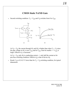 CMOS Static NAND Gate