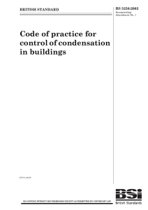 Code of practice for control of condensation in buildings