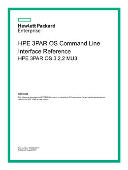 HPE 3PAR Command Line Interface Reference