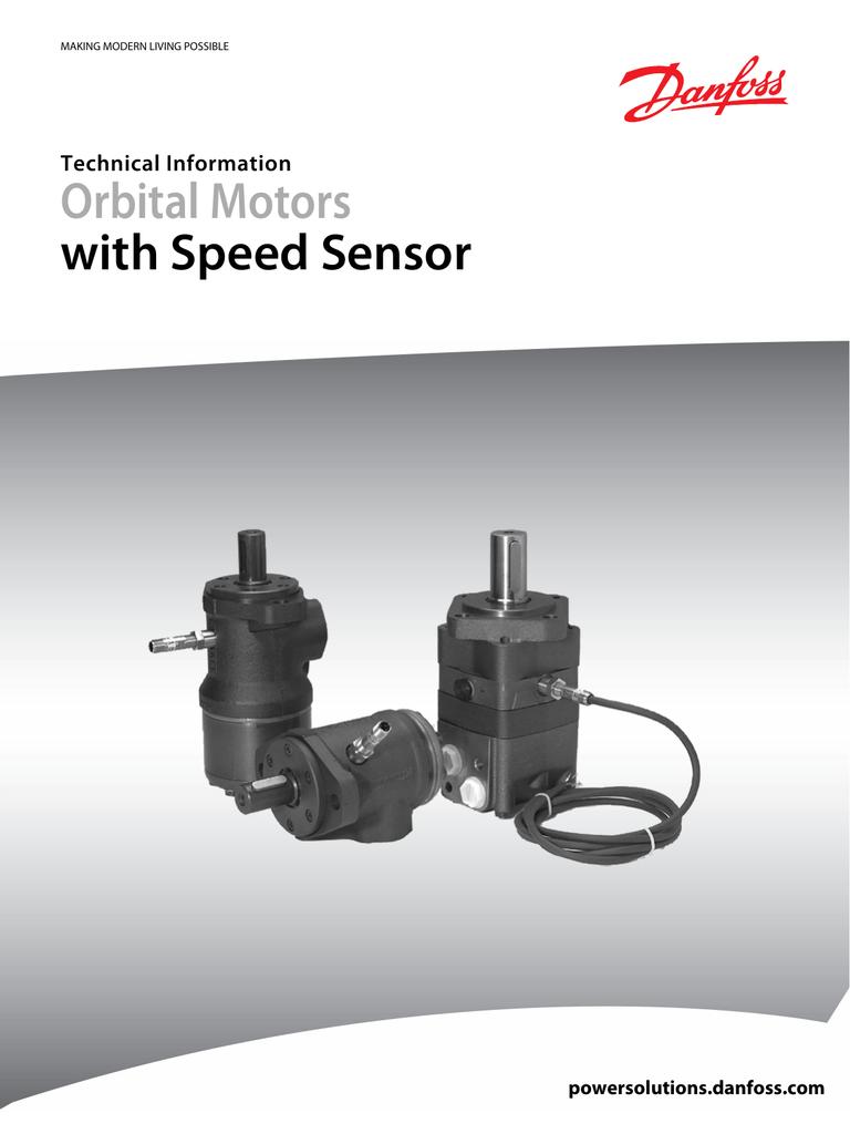 Orbital Motors with Speed Sensor Technical Information