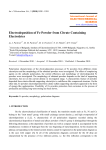 Electrodeposition of Fe Powder from Citrate Containing Electrolytes