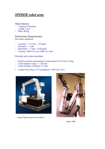 SPIDER robot arm - home page risorse