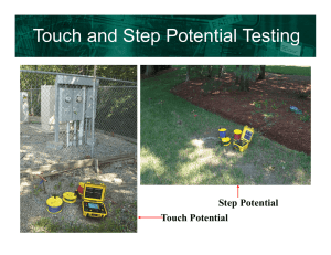 Touch and Step Potential Testing