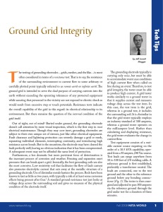 Ground Grid Integrity