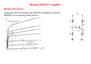 Biasing MOSFET Amplifier