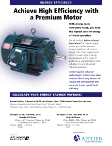 Achieve High Efficiency with a Premium Motor