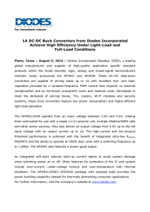 1A DC-DC Buck Converters from Diodes Incorporated Achieve High