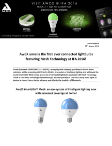 Press Release : AwoX unveils the first ever connected lightbulbs