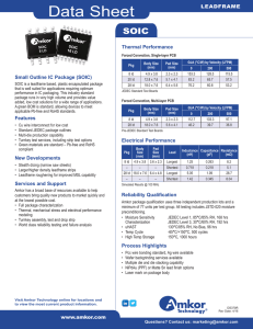 SOIC Data Sheet - Amkor Technology