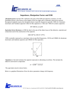 Dissipation Factor/ ESR