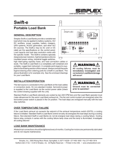 Swift-e 10KW-20KW Portable Load Bank Operator`s Manual