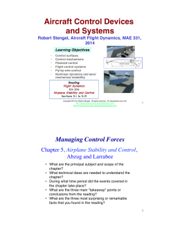 Aircraft Control Devices and Systems!