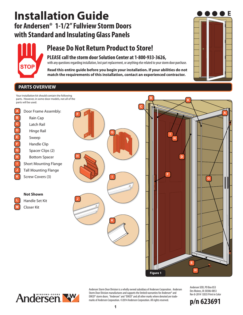 Installation Guide English Storm Doors At The Home Depot