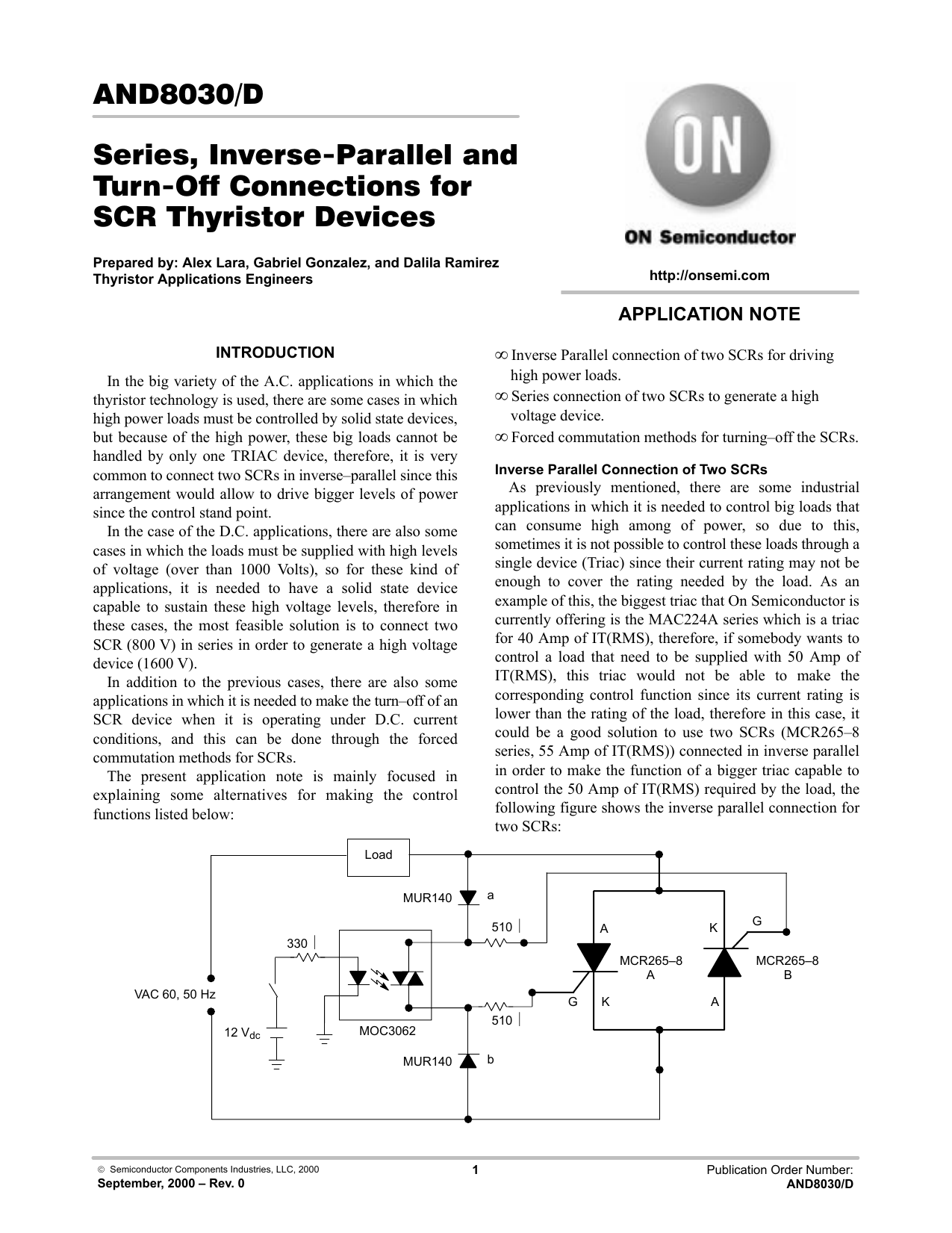 Application Note On Semiconductor Diac Applications