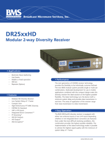 DR25xxHD Series - Broadcast Microwave Services