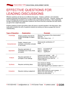 Effective Discussion Questions