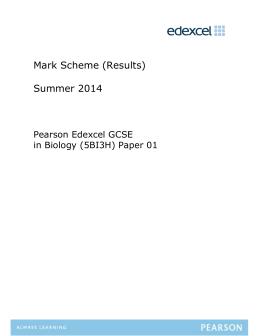 B3 June 2014 H mark scheme - Edexcel