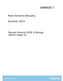 Mark Scheme - Edexcel