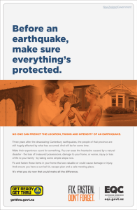 Before an earthquake, make sure everything`s protected.