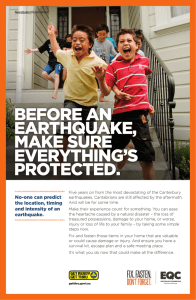 BEFORE AN EARTHQUAKE, MAKE SURE EVERYTHING`S