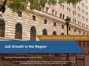 Job Growth in the Region - Federal Reserve Bank of New York