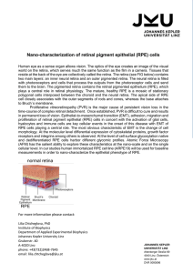 Nano-characterization of retinal pigment epithelial (RPE) cells