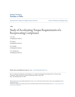 Study of Accelerating Torque Requirements of a - Purdue e-Pubs