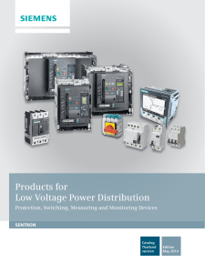 Products for Low Voltage Power Distribution