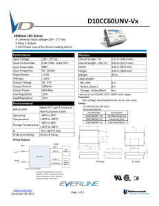 View Spec Sheet - Universal Lighting Technologies