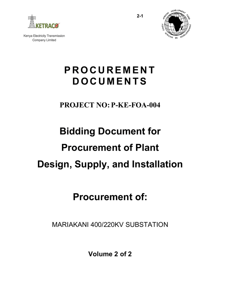 Procurement Documents Bidding Document For Electrical Current Perdiameter Of Wire In Other Words Copper