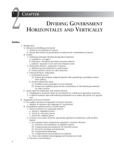Chapter 2: Dividing Government Horizontally and Vertically