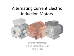Alternating Current Electric Induction Motors