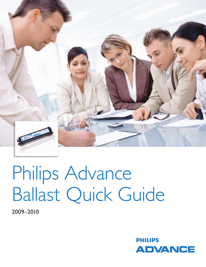 Philips Advance Ballast Quick Guide on