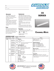 cs series - Lumax Lighting