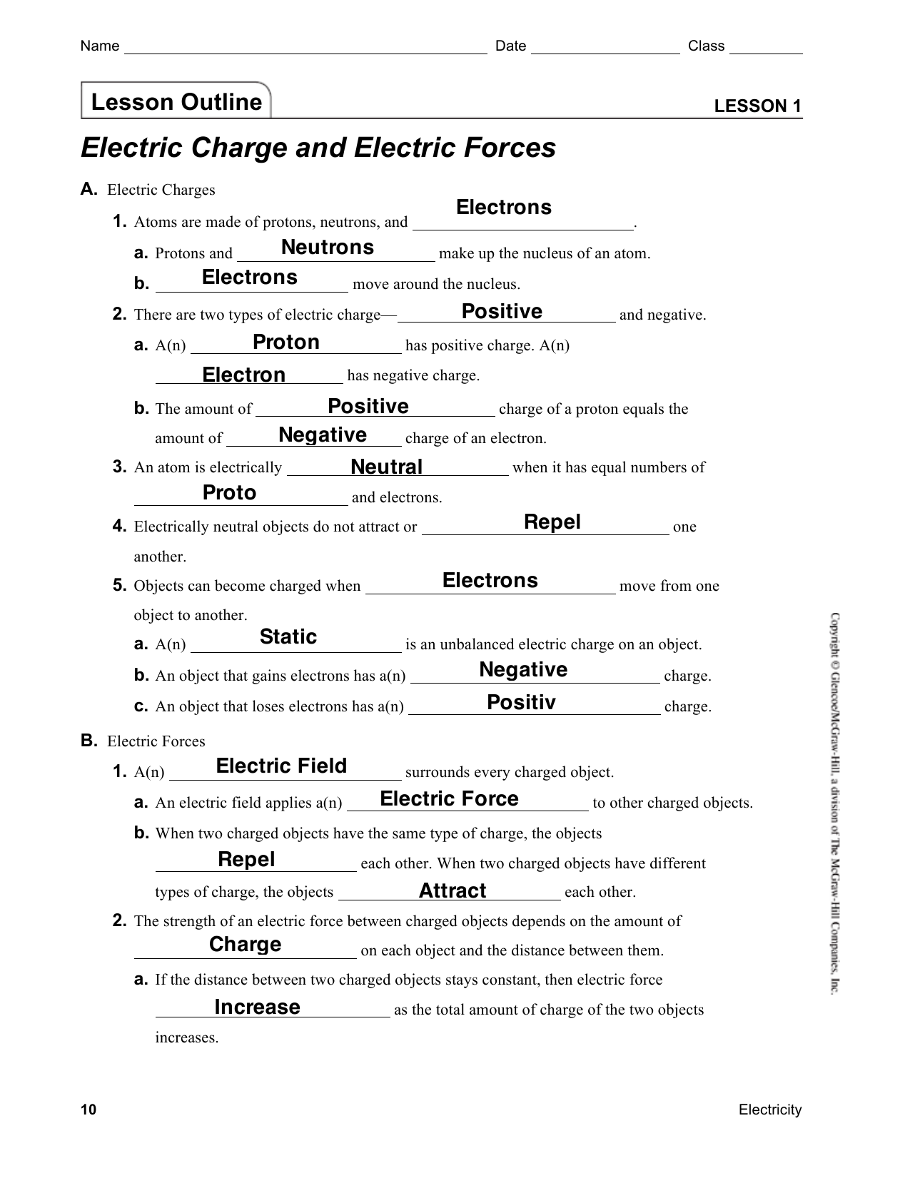 Mr Murray'-s Website Electricity Notes