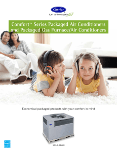 Comfort™ Series Packaged Air Conditioners and Packaged Gas