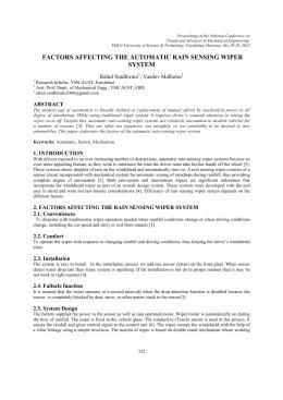 automatic rain sensing wiper project report pdf