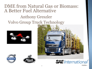 DME from Natural Gas or Biomass: A Better Fuel Alternative