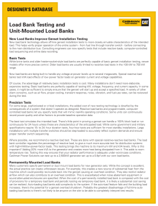 Load Bank Testing and Unit-Mounted Load Banks