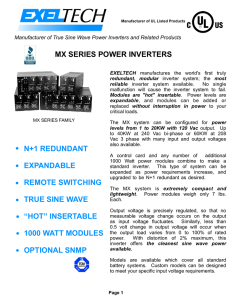 MX SERIES POWER INVERTERS N+1 REDUNDANT