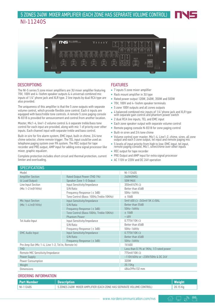 NEW Valcom Clarity Series SWM-15 15-Watt Wall Mount Mixer Amplifier