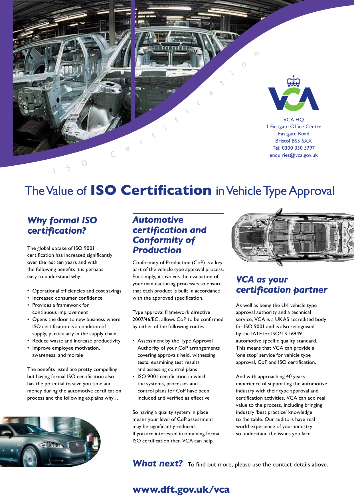 The Value of ISO Certification in Vehicle Type Approval
