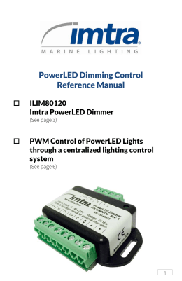 PowerLED Dimming Control Reference Manual