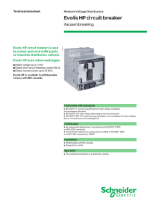 Evolis HP circuit breaker