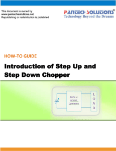 Introduction of Step Up and Step Down Chopper