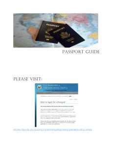 PASSPORT GUIDE PLEASE VISIT: