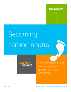 Becoming carbon neutral